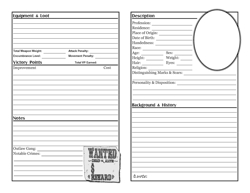 Boot Hill Character Sheet p2
